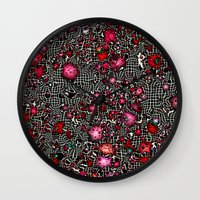 sci fi Wall Clocks featuring Sci-Fi Fantasy Cosmos by MehrFarbeimLeben