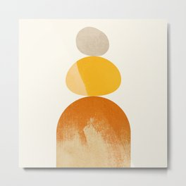 Abstraction_STONE_ROCK_BALANCE_POP_ART_Minimalism_066A Metal Print