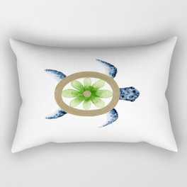Flower Turtle Rectangular Pillow