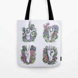 LOVE ASL Art- square version Tote Bag