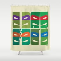 tmnt Shower Curtains featuring TMNT by Szoki