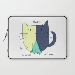 Cat Pie Chart Laptop Sleeve