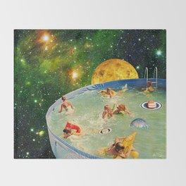 Screaming Children in Pool Throw Blanket