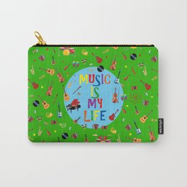 Music is my life (Green) Carry-All Pouch