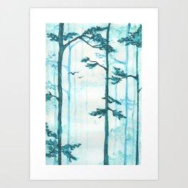 Turquoise Mist Art Print