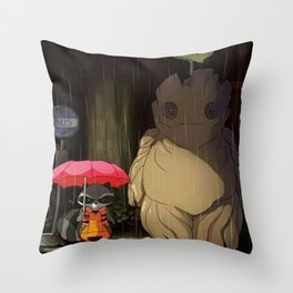my neighbor of galaxi Throw Pillow