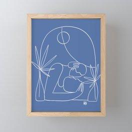 Dreamers no.4 (classic blue) Framed Mini Art Print