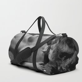 Distressed Nude Duffle Bag