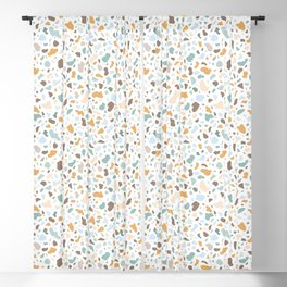 Colorful smooth stones terrazzo pattern Blackout Curtain