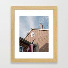 Flag 1 // Conshohocken Framed Art Print
