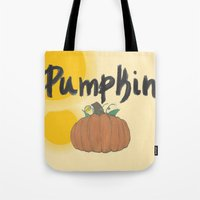 pumpkin Tote Bags featuring pumpkin by gasponce