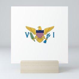 Flag of United States Virgin Island Mini Art Print