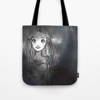emily rickard Tote Bags featuring Emily by ChiaraCi