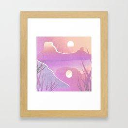 Desert Sunset Desert Landscape Digital Painting Framed Art Print