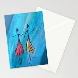 Showtime Teal Dancers Stationery Cards