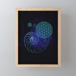 Sacred Geometry Spiral of Creation Framed Mini Art Print