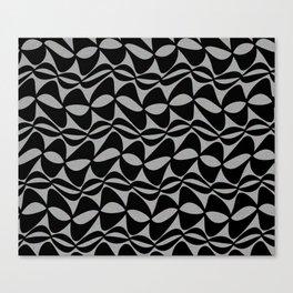 Black Wobble Canvas Print