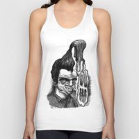 grease Tank Tops featuring Dave's Grease Ghost by PRESTOONS / Art by Dennis Preston