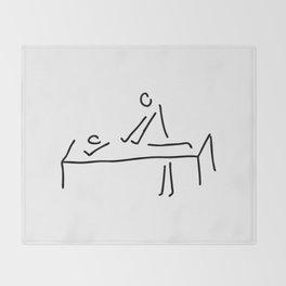 cure massage Throw Blanket