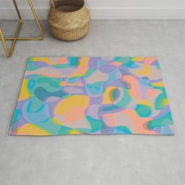 Neon Shapes / Vibrant, Colorful Abstraction Rug