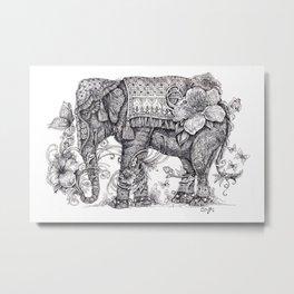 """Anesh the Creative Elephant"" Metal Print"