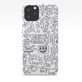 Sketches homage to Keith Haring White iPhone Case