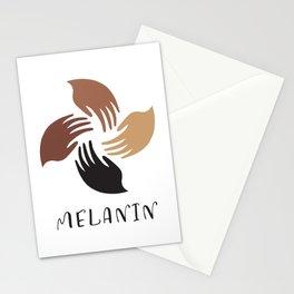 Melanin Shades Black Pride Hands African American Woman Black Lives Matter Stationery Cards