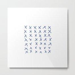 Blue Crosses Metal Print