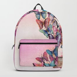 Butterfly Hot Air Balloon Illustration. Backpack