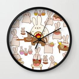 Baking buns Wall Clock