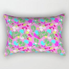 Vintage Mod Forest Floral in Pink Rectangular Pillow