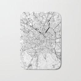 Milan White Map Bath Mat