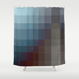 Geometric Earth Tones Shower Curtain