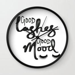 Good Lashes Good Mood Wall Clock