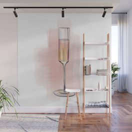 Champagne Glass no 4 Wall Mural
