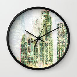 Cityscape and forest Wall Clock