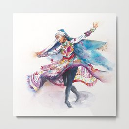 Indian Folk Dance Metal Print
