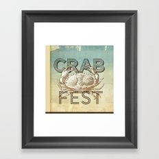 Crab Fest Framed Art Print