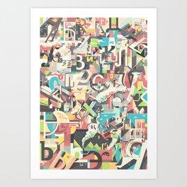 Cyrillic alphabet Art Print