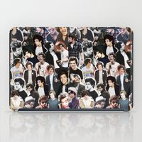 harry styles iPad Cases featuring Harry Styles - Collage by Pepe the frog