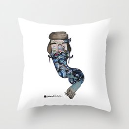 Volodia Рыба and the rhinolot Throw Pillow