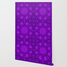 Peacock Double Kaleidoscope Purple Wallpaper