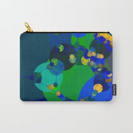 raelyn - abstract design of royal blue kelly green bright sunshine yellow teal Carry-All Pouch