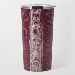 Apollo 11 Saturn V Blueprint in High Resolution Travel Mug