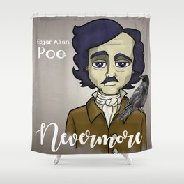 Poe Dingy Shower Curtain