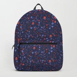 Intricate Dark Moody Floral Pattern Backpack