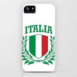 Italia: Italian Collegiate Coat of Arms iPhone Case