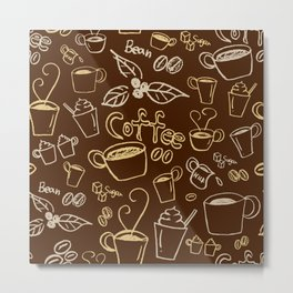 coffee illustration Metal Print
