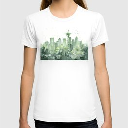 Seattle Watercolor Painting T-shirt