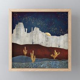 Moonlit Desert Framed Mini Art Print